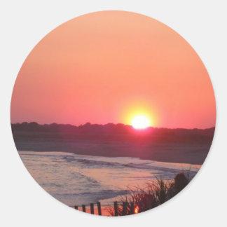 Sunset * Cape May, New Jersey Classic Round Sticker