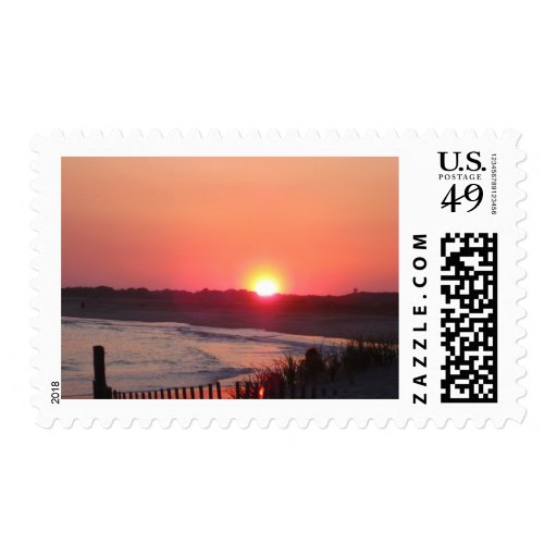 Sunset * Cape May, New Jersey Postage Stamp