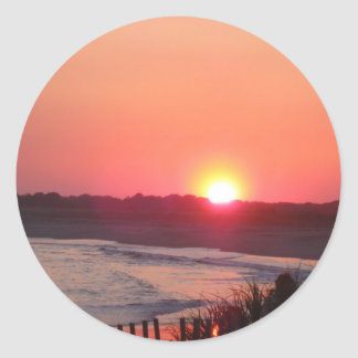 Sunset * Cape May, New Jersey Classic Round Sticker