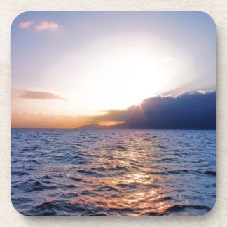 Sunset Caribbean Coast Drink Coaster