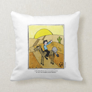 SUNSET cartoon by Ellen Elliott Throw Pillow