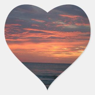 Sunset Catching The Light Heart Sticker