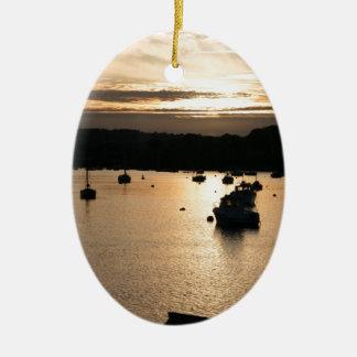 Sunset Ceramic Ornament