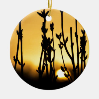 sunset ceramic ornament