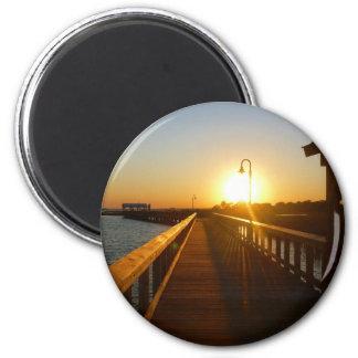 Sunset Charleston SC  Mouse Pad Magnet