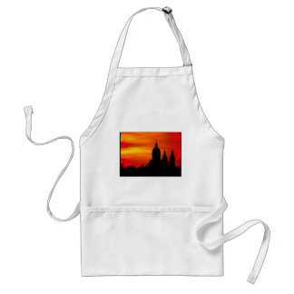 Sunset Church Silhouettes Adult Apron