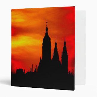 Sunset Church Silhouettes Binder