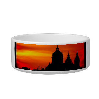 Sunset Church Silhouettes Bowl