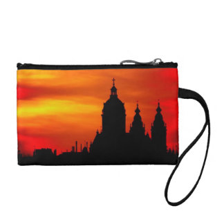 Sunset Church Silhouettes Coin Wallet
