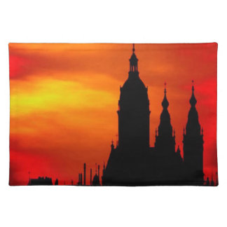 Sunset Church Silhouettes Placemat