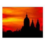 Sunset Church Silhouettes Post Card