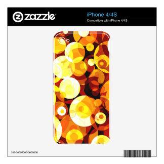 Sunset Circles iPhone 4S Decal