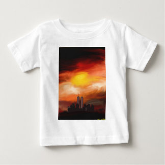 Sunset Cityscape by Nicole Whittaker Baby T-Shirt