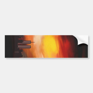 Sunset Cityscape by Nicole Whittaker Bumper Sticker