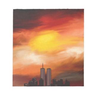 Sunset Cityscape by Nicole Whittaker Scratch Pads