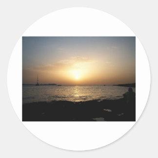 Sunset Classic Round Sticker