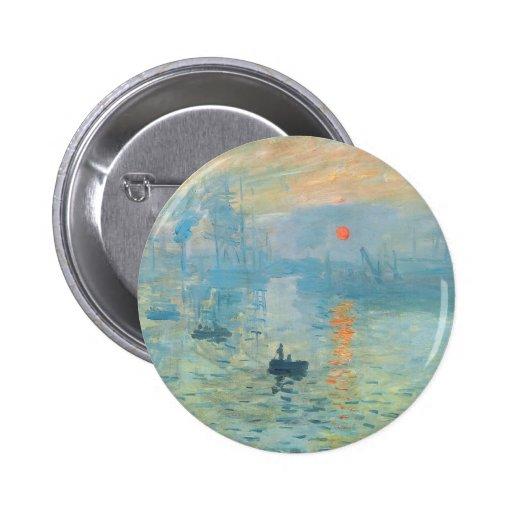 Sunset - Claude Monet Button