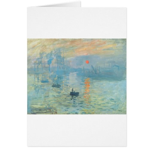 Sunset - Claude Monet Card