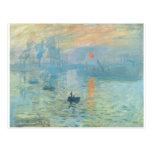 Sunset - Claude Monet Post Card