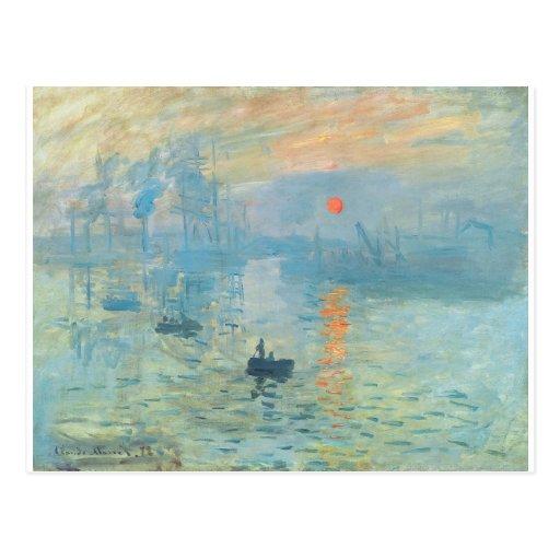 Sunset - Claude Monet Postcard