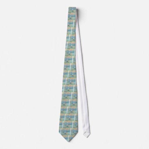 Sunset - Claude Monet Tie