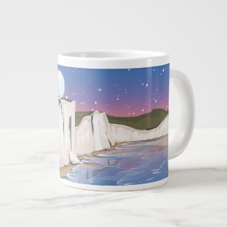 Sunset Cliffs by the Ocean Giant Coffee Mug