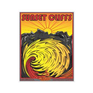 SUNSET CLIFFS SAN DIEGO CALIFORNIA SURFING CANVAS PRINT