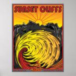 SUNSET CLIFFS SAN DIEGO CALIFORNIA SURFING PRINT