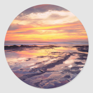 Sunset Cliffs tide pools Classic Round Sticker