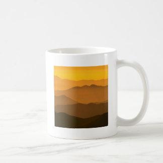 Sunset Clingmans Dome Mountains North Carolina Coffee Mugs