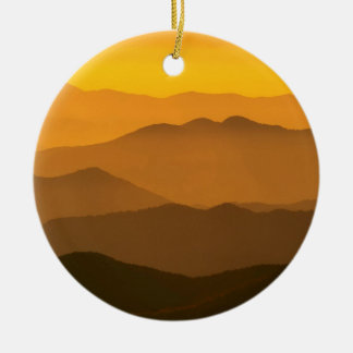 Sunset Clingmans Dome Mountains North Carolina Christmas Tree Ornament