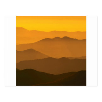 Sunset Clingmans Dome Mountains North Carolina Post Cards
