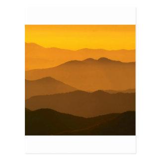 Sunset Clingmans Dome Mountains North Carolina Postcard