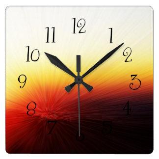 Sunset Clingman's Dome Smokey Mountains Square Wall Clock