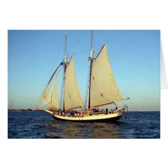 sunset clipper ship card