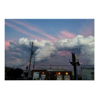 Sunset Cloud Formations Photo Poster