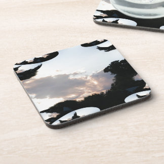 Sunset Cloud With Fractal Trace Coasters