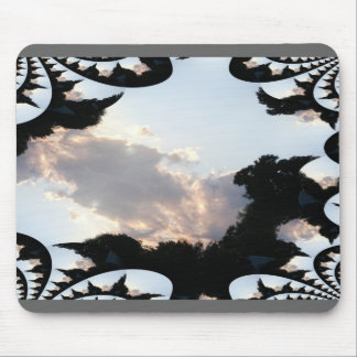 Sunset Cloud With Fractal Trace Mouse Pad