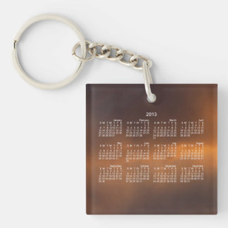 Sunset Clouds; 2013 Calendar Keychain