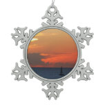 Sunset Clouds and Sailboat Ornaments