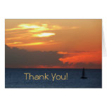"Sunset Clouds and Sailboat ""Thank You"" Card"