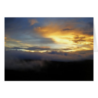 Sunset clouds at God's Window Greeting Cards