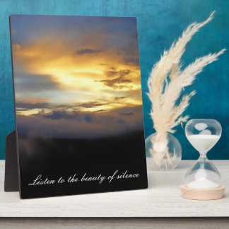 Sunset clouds at God's Window Display Plaques