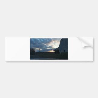 sunset clouds/barn bumper sticker
