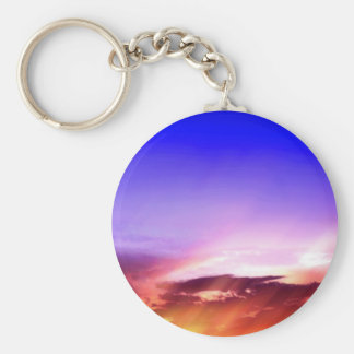 Sunset Clouds & Blue Sky Keychain