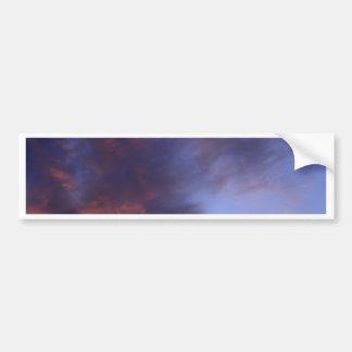 Sunset clouds bumper sticker