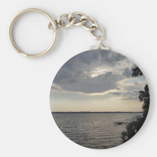 Sunset Clouds Cayuga Lake NY Keychain