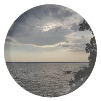 Sunset Clouds Cayuga Lake NY Dinner Plates