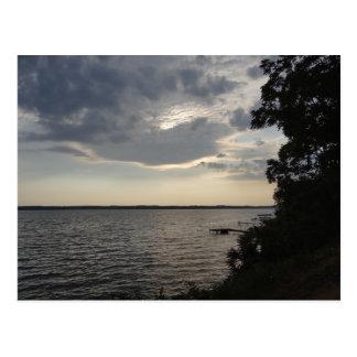 Sunset Clouds Cayuga Lake NY Postcard