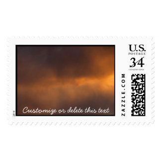 Sunset Clouds; Customizable Stamp